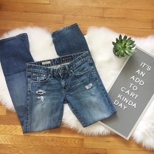 Anthropologie AG the Tomboy distressed Jeans 27R